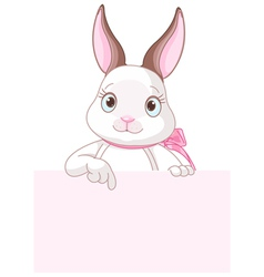 Easter Bunny Pointing Down vector image