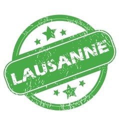 Lausanne green stamp vector