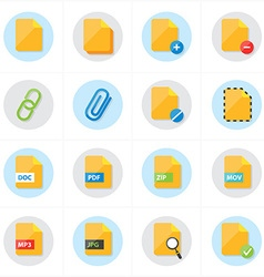 Flat Icons File Icons vector image