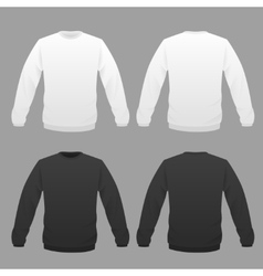 Hoody white and black vector