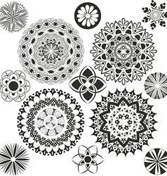 A set of mandalas vector image vector image