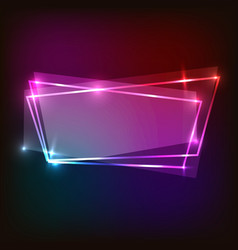 Abstract neon background with colorful banner vector