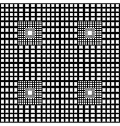 Black and white checkered geometric pattern vector image
