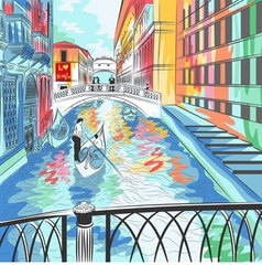 Bridge of Sighs in Venice vector image vector image