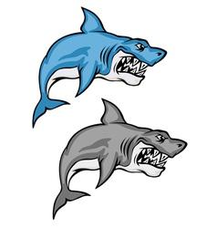 cartoon shark set vector image
