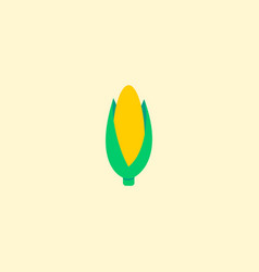 corn icon flat element of vector image vector image
