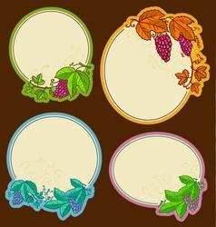 grape frames vector image vector image