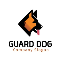 Guard dog design vector