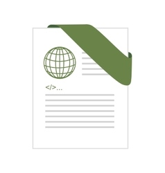 html format type file document vector image