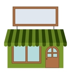 Isolated green store design vector