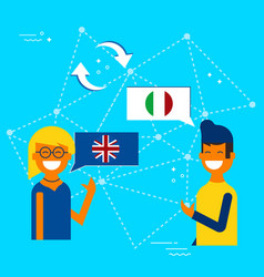 Italian and english online chat translation vector