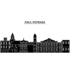 Italy potenza architecture city skyline vector