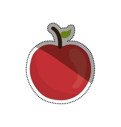 Juicy apple fruit vector