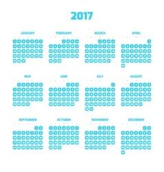 Modern style calendar for 2017 vector image vector image
