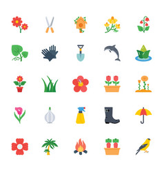 Nature and ecology flat colored icons 4 vector