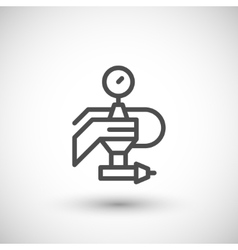 Painting machine part line icon vector
