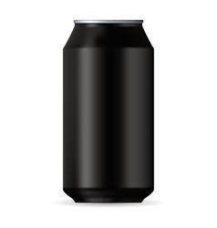 Realistic black aluminum can vector image