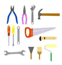 repair and construction working tools icon set vector image vector image