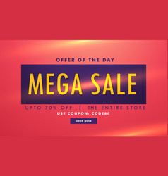 Sale discount deal banner template vector