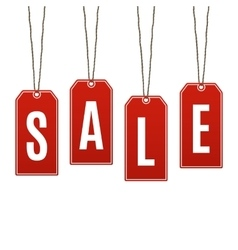 Sale Price tags isolated on white background vector image