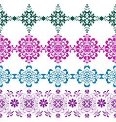 Set seamless colorful border vector image vector image