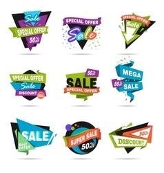 Super sale banner set Paper cat design vector image