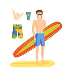 Surfing boy vector image vector image