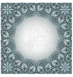 Vintage background with silver pattern vector