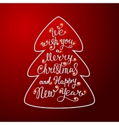We wish you a Merry Christmas greeting card vector image