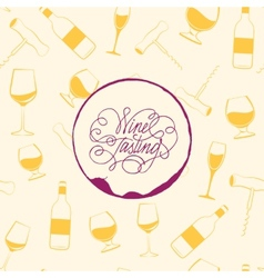 Wine drops over text paper background vector image vector image