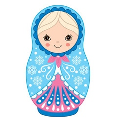 Winter matryoshka vector