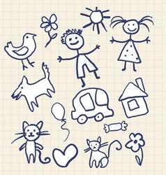 Childrens Scribbles Notebook vector image