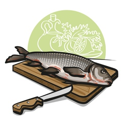 Raw fish vector