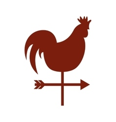 Rooster air measure icon vector
