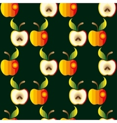 Apple background  textile red vector