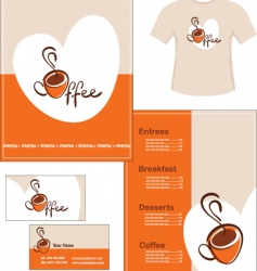 cafe identity vector image