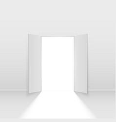 Double open door on white background vector