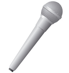 Modern wireless microphone vector