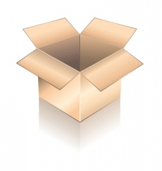 3d box with shadow vector