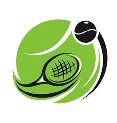 Stylized tennis icon vector image