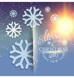 Christmas snow card vector