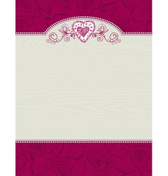 Valentines wooden background with hand draw hearts vector