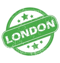London green stamp vector