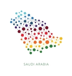 Dotted texture saudi arabia background vector
