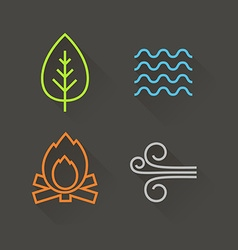 Element icons vector image