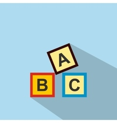 Abc blocks toy flat icon vector