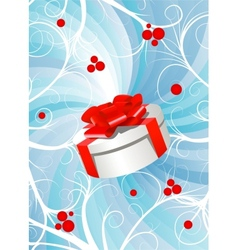 Gift box background vector
