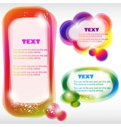 colorful bubble for speech vector image vector image