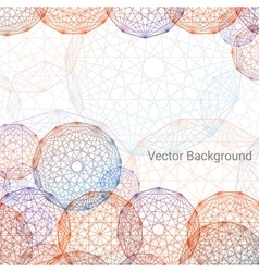 Concentric colored circles background vector image