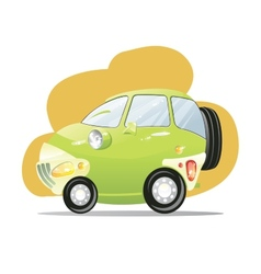 Cute car with the headlights in a cartoon style vector